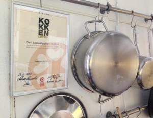 Diplom for Det bæredygtige måltid